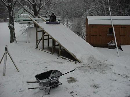 Backyard Snowboard Ramp the snowboard ramp
